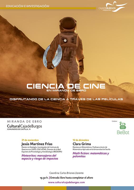 Ciencia de Cine en Miranda de Ebro con la colaboración de Bebot Miranda
