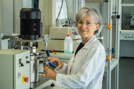 La investigadora Sagrario Beltrán visita Bebot Miranda el 30 de enero de 2020